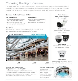 Choosing the Right Camera